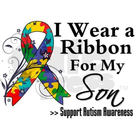 Autism Ribbon Awareness Month Jewelry Son Autism Ribbon