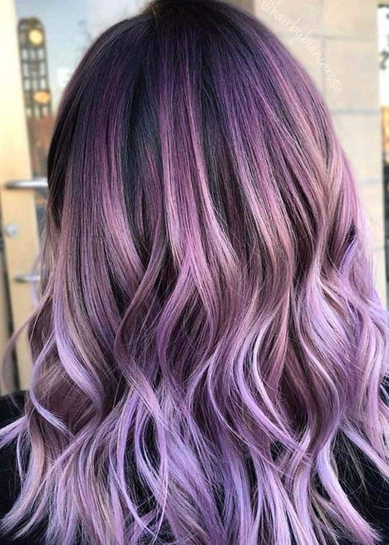 Adorable Purple Hair Colors And Hairstyles For Women 2020 In 2020 Metallic Hair Hair Color Purple Hair Styles
