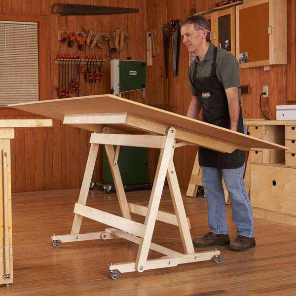 Fold Flat Sheet Goods Mover Woodworking Plan From Wood