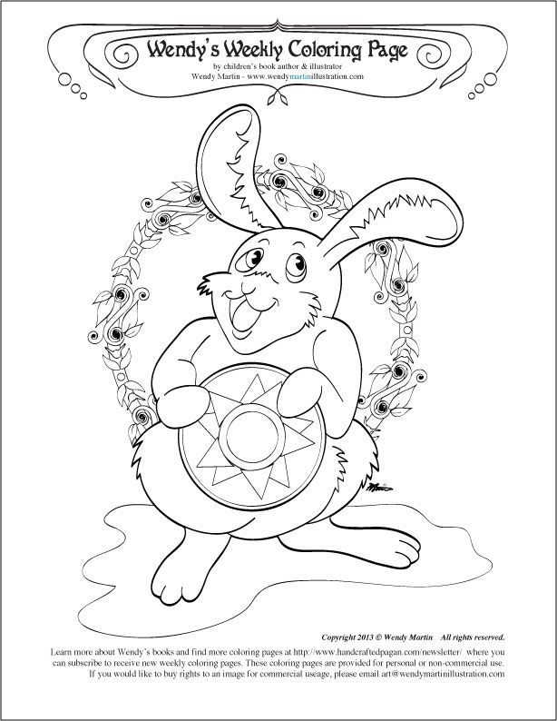 Http Handcraftedpagan Com Wp Content Uploads 2013 06 Litharabbit Coloringpage Jpg Coloring Pages Free Coloring Pages Summer Solstice