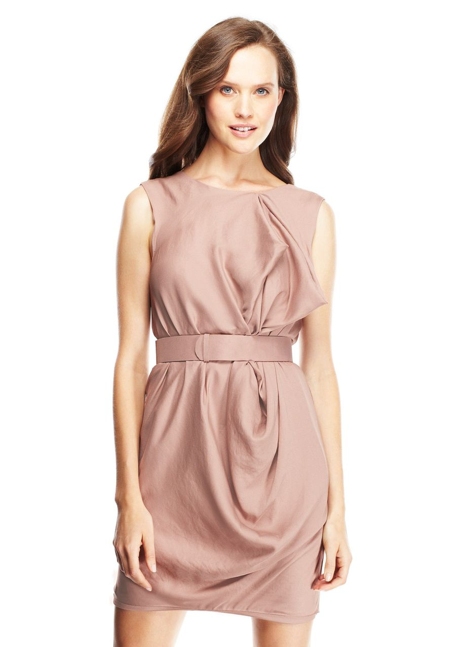 ideeli | HALSTON HERITAGE Sleeveless Draped Mini Dress | Isn\'t that ...