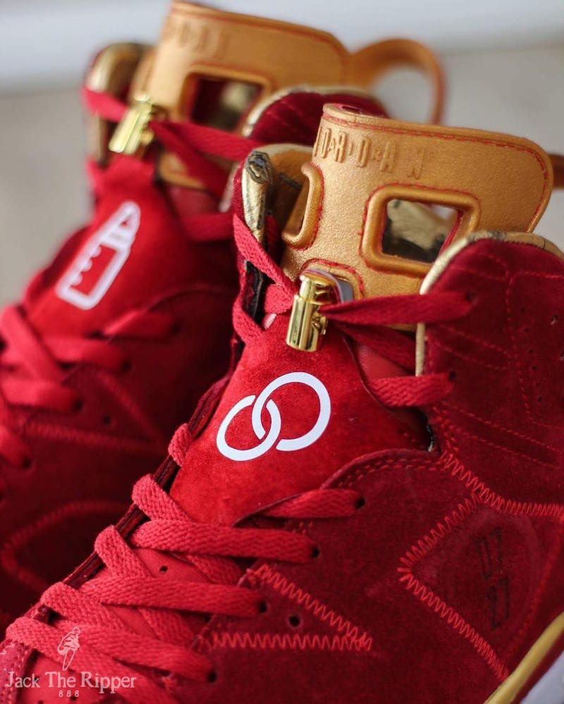 meet f9697 5bdbd Air Jordan 6 Blood Red Doernbecher Custom