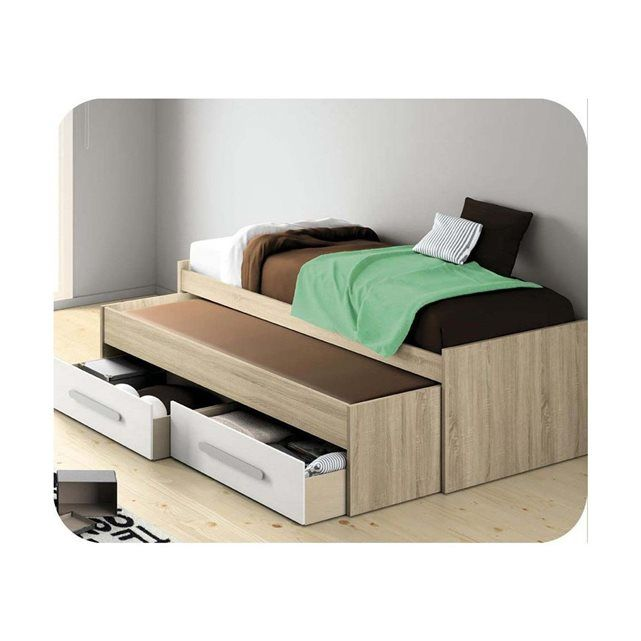 lit enfant gigogne planet 90x200 cm avec rangements ma chambre d 39 enfant lit gigogne. Black Bedroom Furniture Sets. Home Design Ideas
