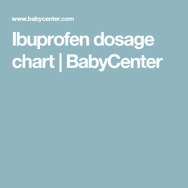 Ibuprofen Dosage Chart Chart