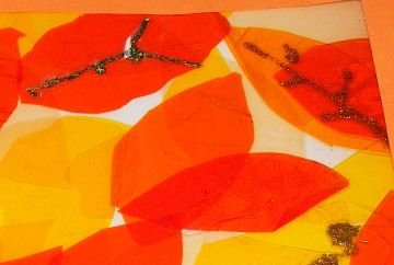 Autumn window pictures - detail
