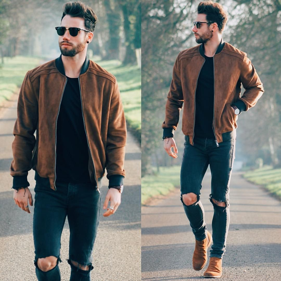 "Chez Rust on Instagram: ""The suede statement bomber. Banger of a jacket with"