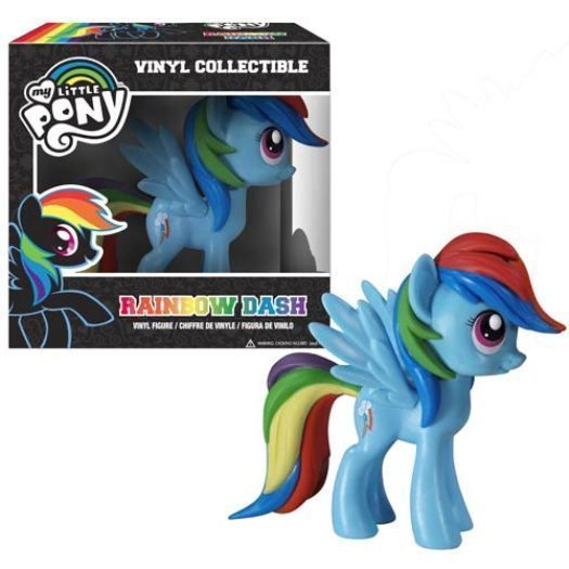 Funko My Little Pony BLACK RAINBOW DASH Vinyl Glitter Mane Exclusive VARIANT
