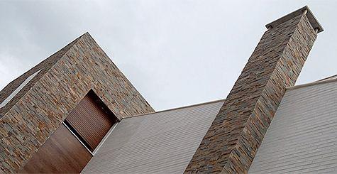 Baldosas de piedra decorativa para paredes interiores y de for Tipos de piedras para paredes exteriores