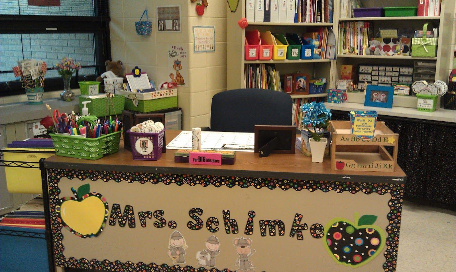Third Grade All Stars Teacher Desk Areas Teacher Desk Teacher Desk Decorations