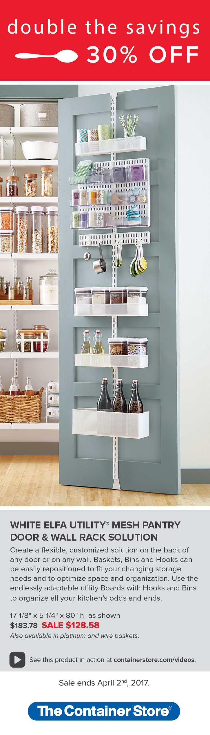 Maximize your pantry space by utilizing the back of your door! Our ...