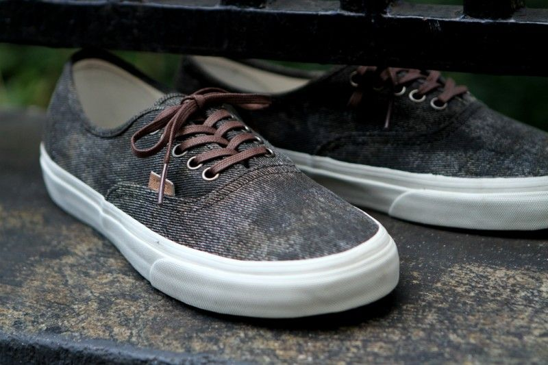 """fad8112755 Vans California Authentic CA """"Stained"""" Olive   Light Blue   Kith NYC ..."""