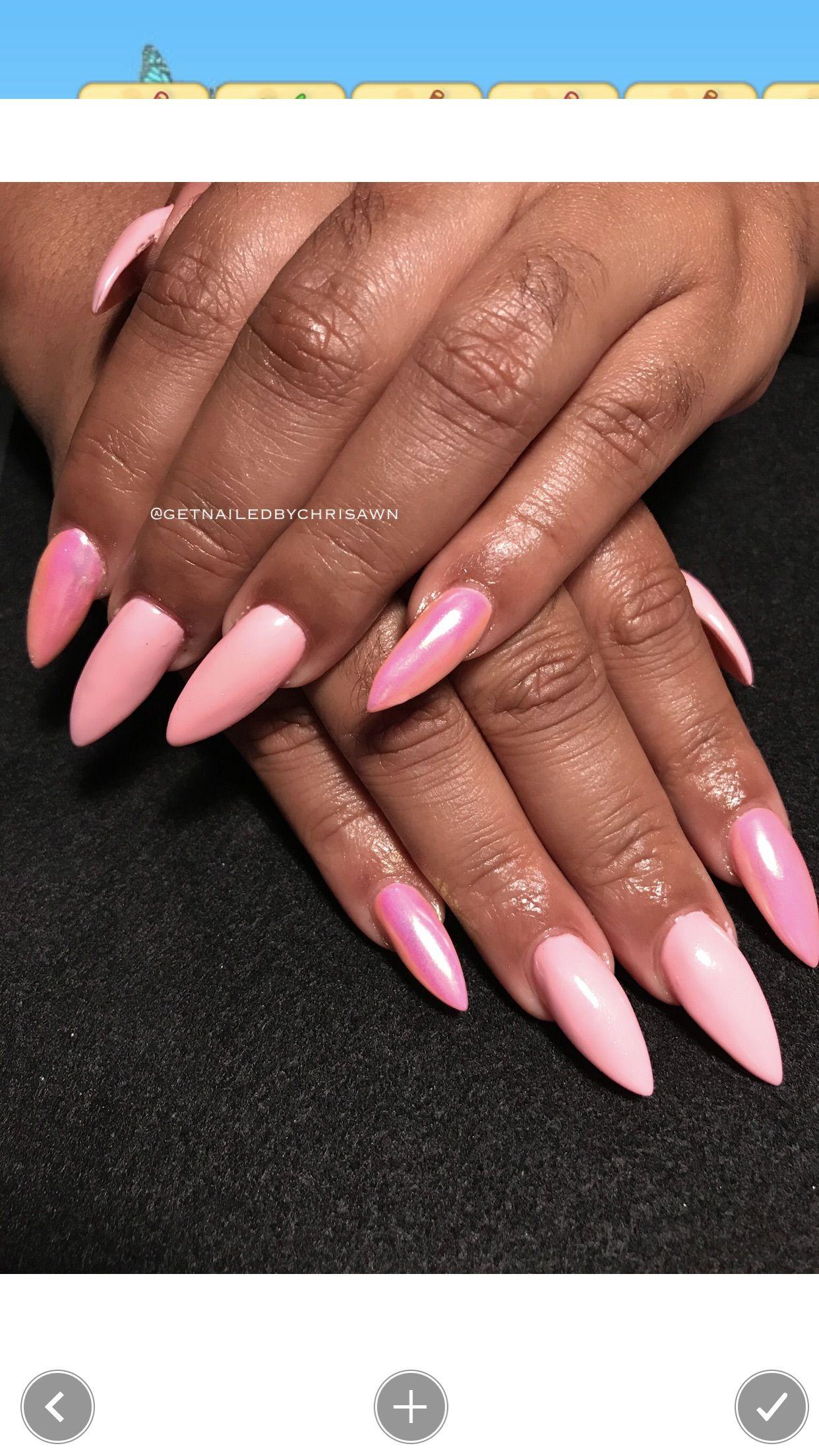 Pink Petal Pearl Nail Art Nails Pretty Nail Designs Ig