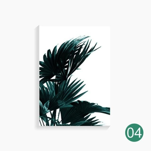 Photo of SET OF 3 Pineapple & Green Leaves Canvas Painting for Living Room