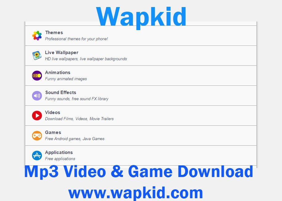 Wapkid Mp3 Video Game Download Aplikasi Hiburan