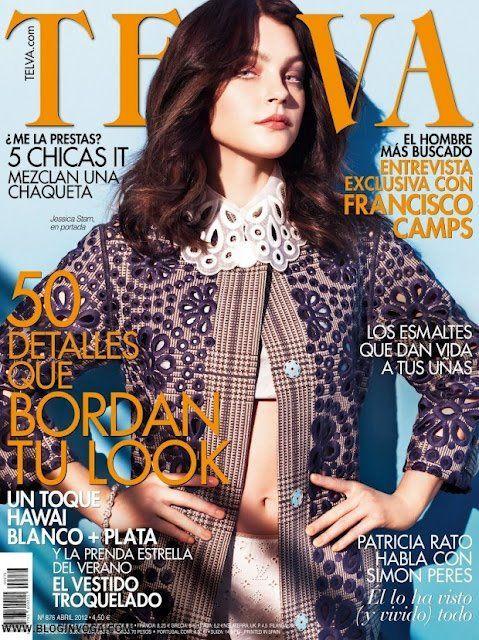 La Supermodelo canadiense Jessica Stam, es la imagen del mes de mayo de la revista Telva