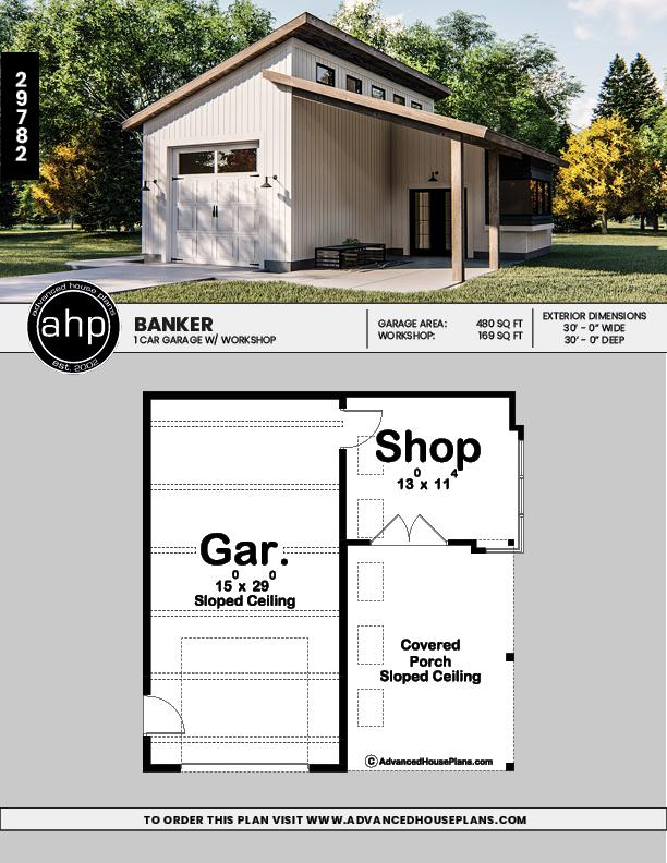 Modern Garage Plan Banker Modern Garage Garage Design Garage Plan
