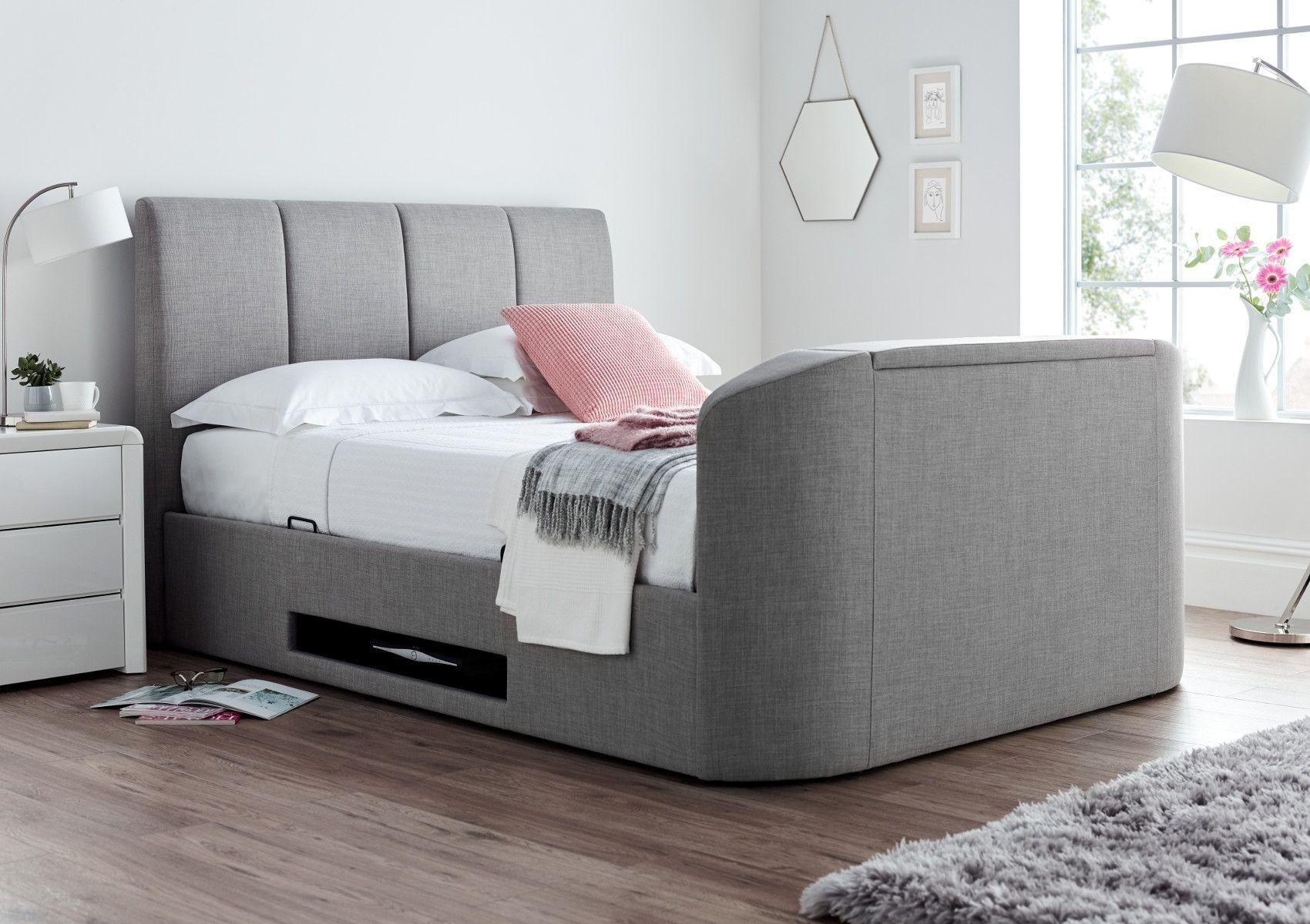 Admirable Copenhagen Upholstered Ottoman Tv Bed Mid Grey In 2019 Creativecarmelina Interior Chair Design Creativecarmelinacom