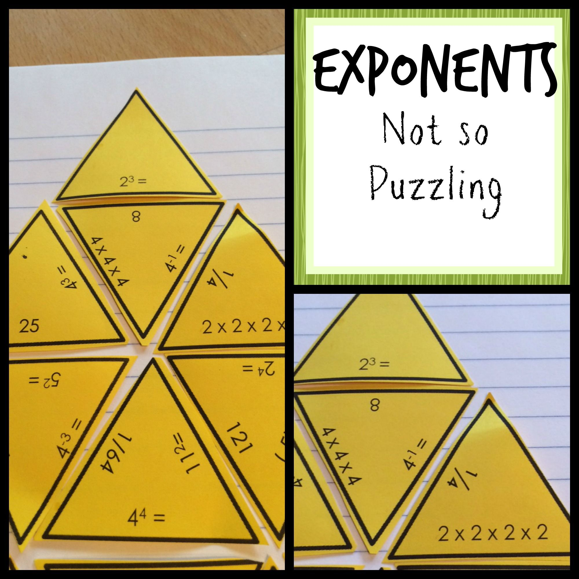 Exponents Puzzle Activity With Images