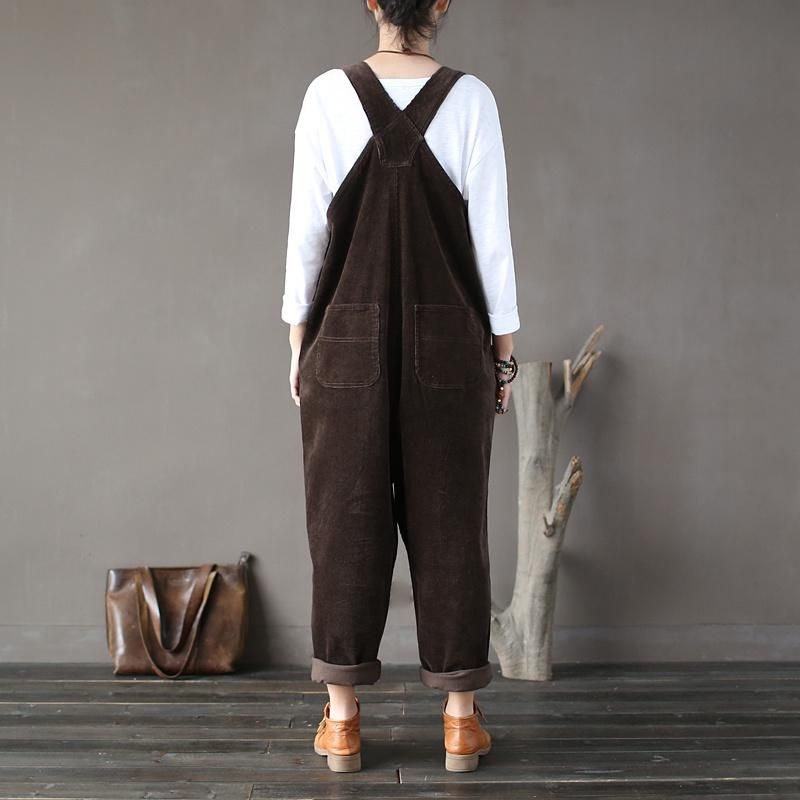 91e4dbd1d1 This plus size overall is comfy and stylish. Featuring high-quality  corduroy fabric