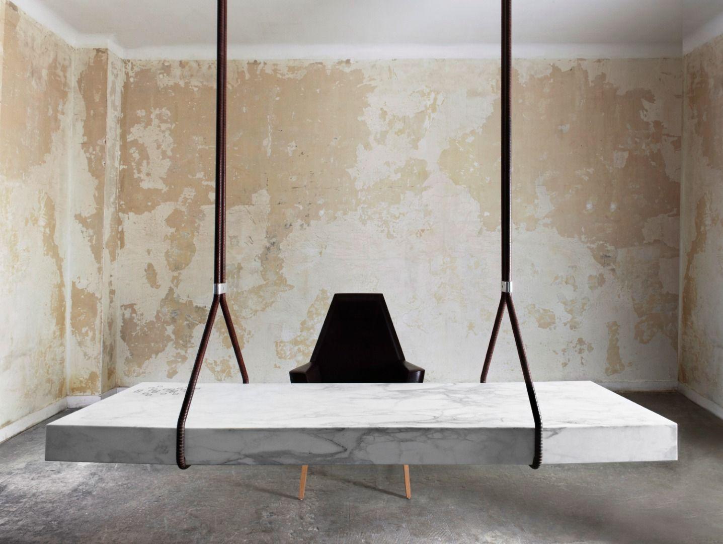 Bureau heterotopia par ramy fischler bureau en marbre