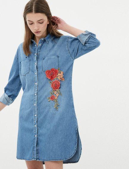 b40dea7b26378 Koton - Koton Kadın Çiçekli Jean Elbise | Brand-Store KADIN | Floral ...