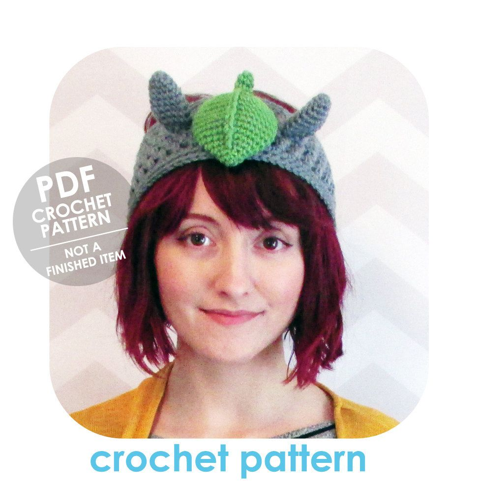 INSTANT DOWNLOAD - Kawaii totoro headband - ear warmer - PDF crochet ...