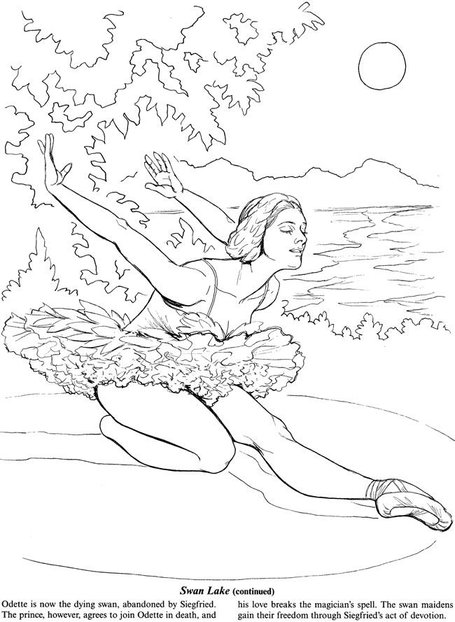Favorite Ballets Coloring Book Dover Publications | Coloring pages ...