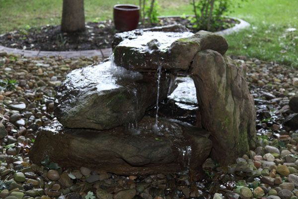 Mossrock Fountains Fountains Handcarved Fountain Around Firepit Large Moss Rock Fountain Landscaping Water Feature Solar Fountain Rock Fountain