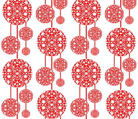 Middle Eastern Chinese Paper Cut Lanterns Fabric By Zsmama On Spoonflower