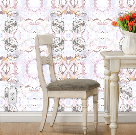 Self Adhesive WallpaperPVC-free paper, durable and eco-friendlySelf-adhesive: just soak in water and apply Fully removable: perfect for apartments