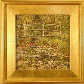 Bridge over a Pool of Water Lilies-S
