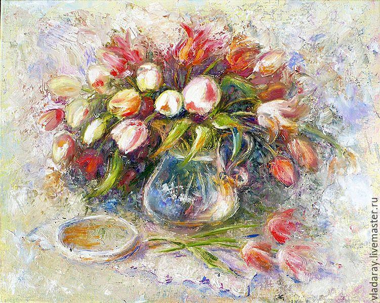 Большие картины цветы