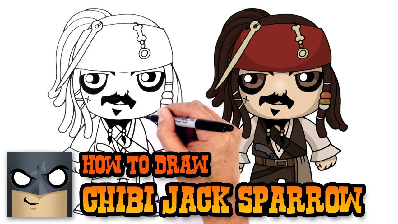 How to Draw Jack Sparrow (Chibi) Drawing Tutorial Video