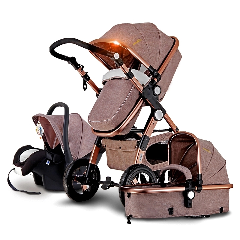 (328.90) Watch now NEW Fashion Baby Stroller 3 in 1