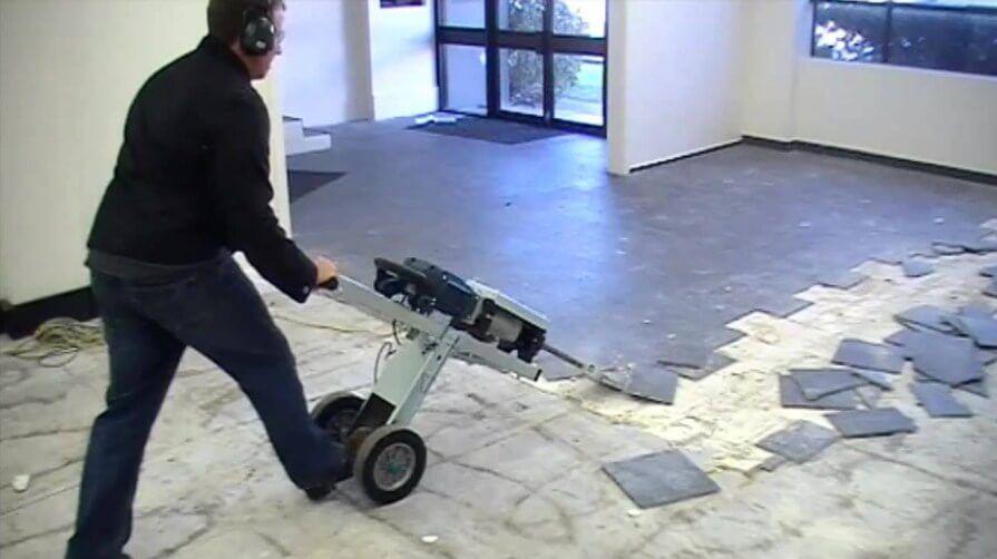 fastest way to remove floor tiles