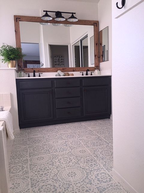 Oh Floor How I Love Thee Painted Tile Bathroom Inspiration Bath Best Small Master Bathroom Pictures Painting