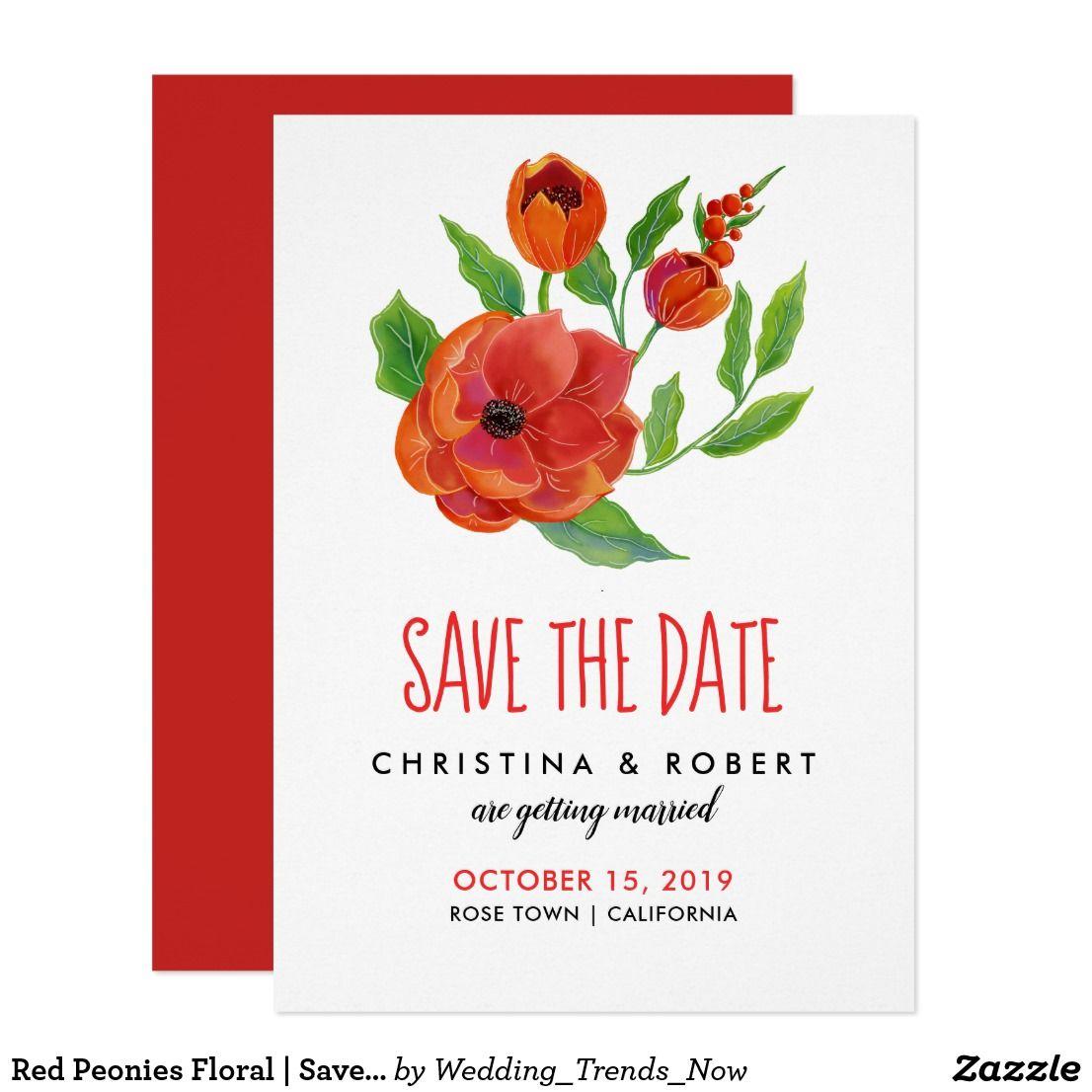 Unique Peonies Wedding Invitations Composition - Invitations and ...