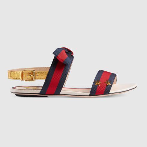21cfb2f4a97 GUCCI Aline Grosgrain Web Sandal.  gucci  shoes  women s sandals