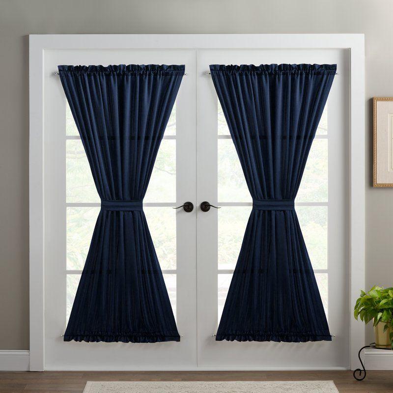 Basics Solid Room Darkening Thermal Rod Pocket Single Curtain Door Panel Door Curtains Curtains Panel Curtains