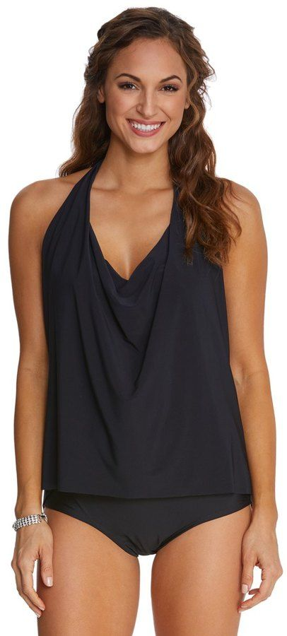16faa5dfaf2 Magicsuit by Miraclesuit Solid Sophie Underwire Tankini Top (DD Cup) 8151712