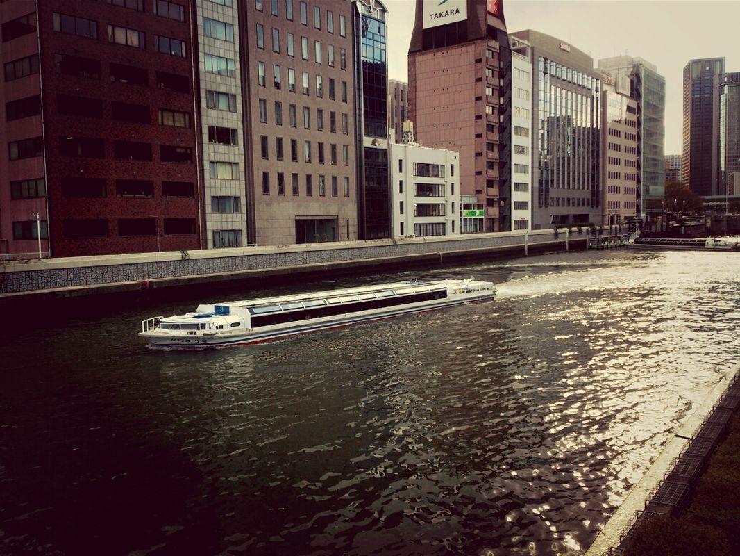Water bus in Osaka, Japan, April 6, 2014 #Landscape #Water #Cityscapes | EyeEm