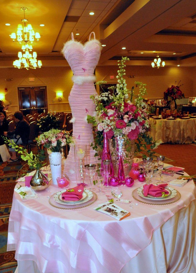 T Cancer Awareness Centerpiece Molly Shea Design Pinterest And Centerpieces