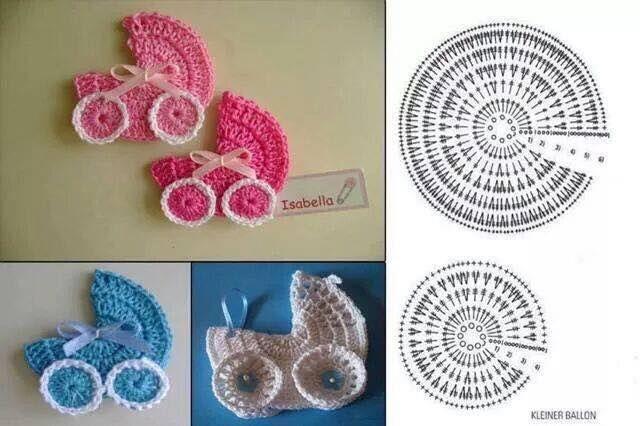 Applicatie Haken Voor Op Een Geboortekaartje Crochet Crochet