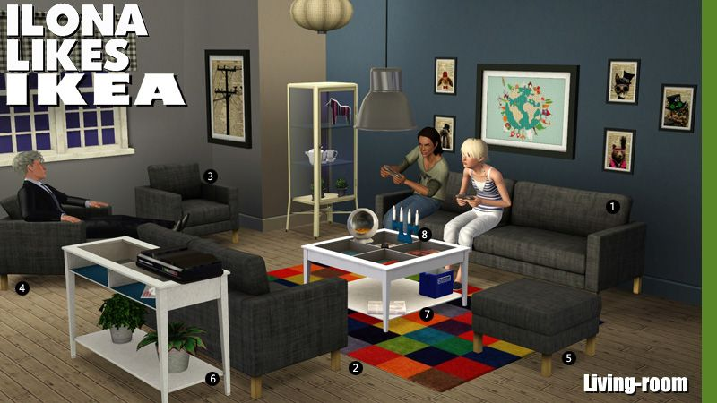 Around The Sims 3 Downloads Objects Living Room Ikea Mobilier De Salon Ikea Sims 3