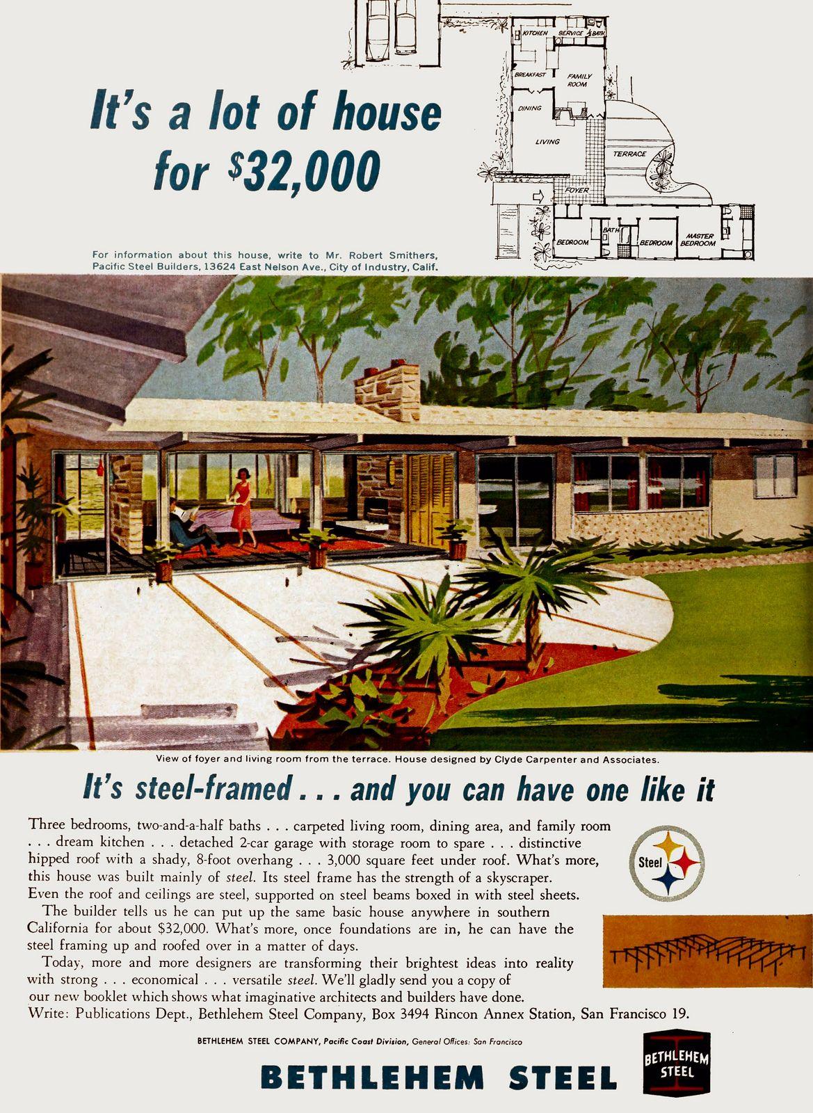 Bethlehem Steel Ad Architect Clyde Carpenter 1962