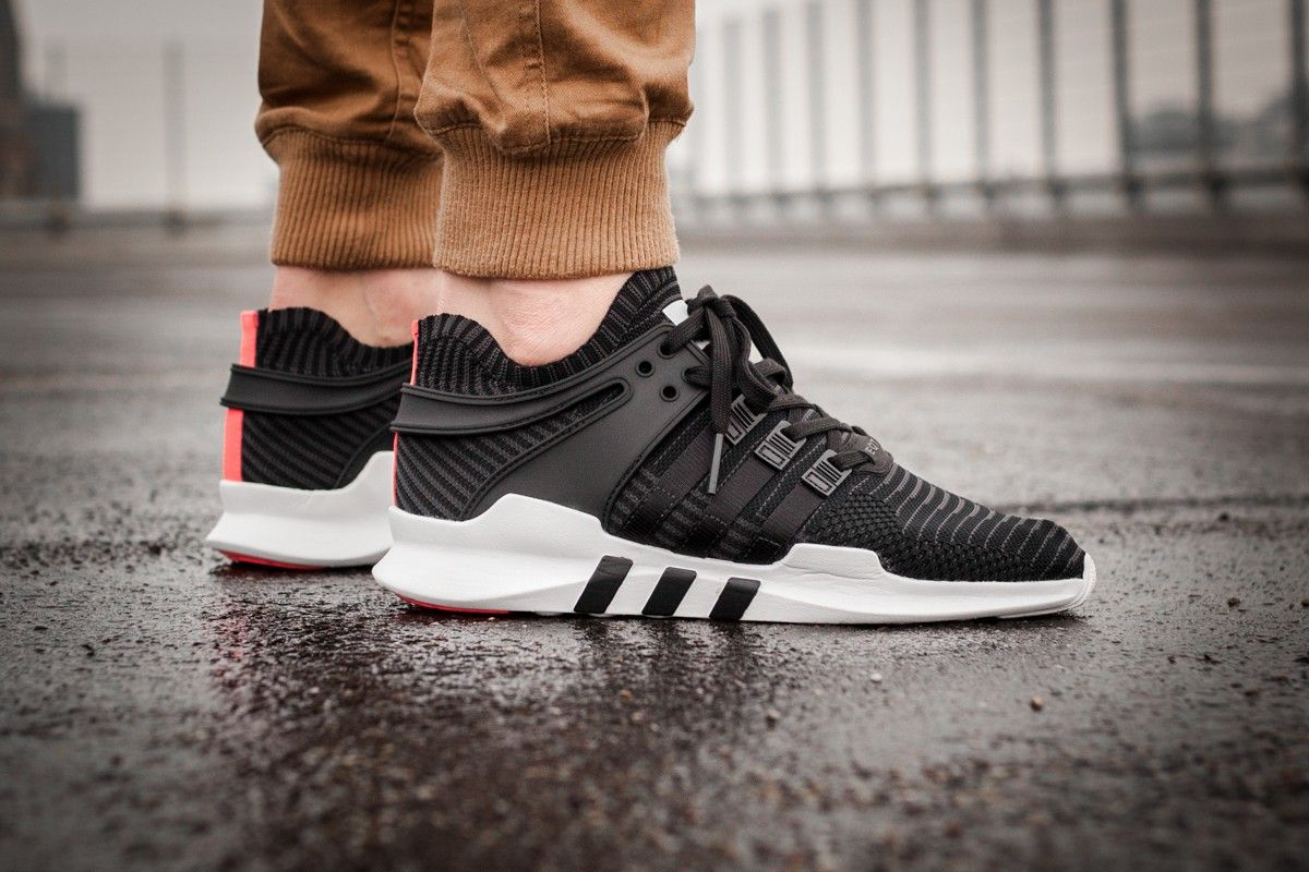premium selection e4306 da720 Adidas EQT Support ADV Primeknit Core Black  Turbo Credit  Afew Store  Adidas Inside Sneakers
