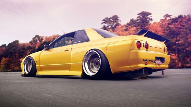 yellow cars nissan skyline r32 nissan skyline r32 gtr 1920x1080
