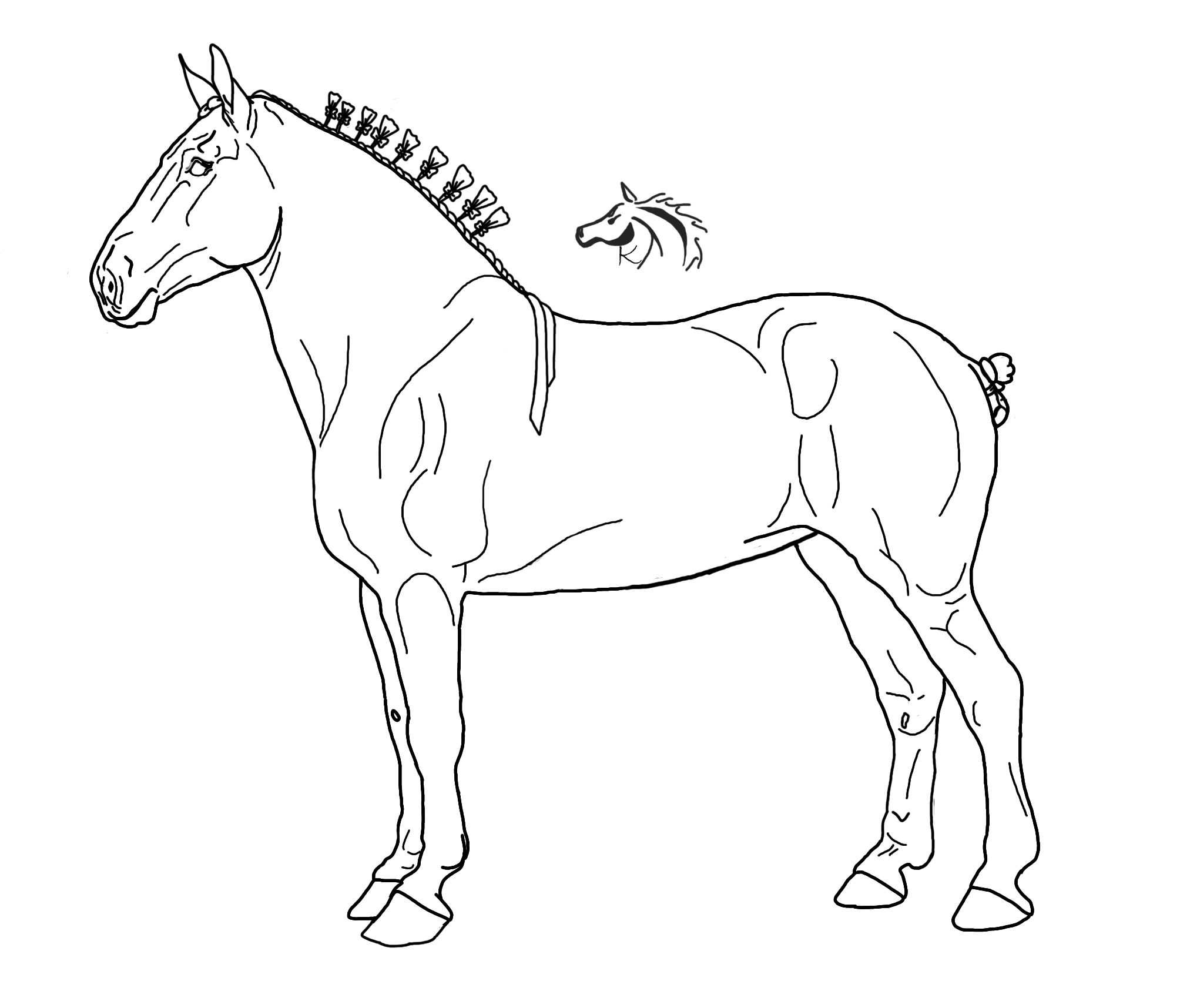 draft horse lineart by xkissofcreation deviantart com on
