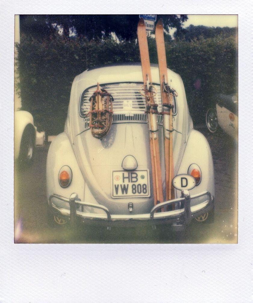 vintage VW w/ ski rack   Kewl things with wheels...   Pinterest   Vw ...