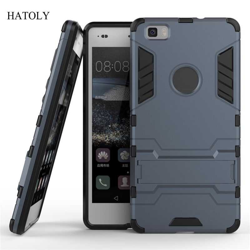 Untuk Huawei P8 Lite Case P8 Mini Slim Keras Kembali Telepon Case Shockproof Robot Armor Protector Hybrid Rugged Karet Tpu Penutup Huawei Mobile Phone Bag Case